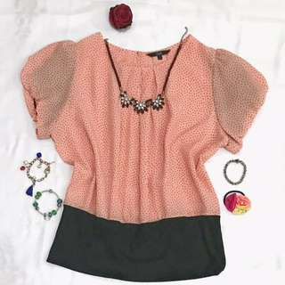 Peach Blouse by COLE