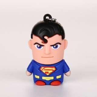 USB Thumbdrive Storage 128 GB [Superman] Perfect Gift Present
