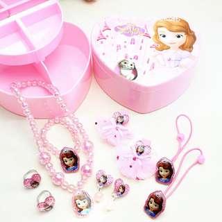💖 FREE SHIPPING 💖 Princess Sofia Kids Children's Jewelry Combination Set Gift Premium Box