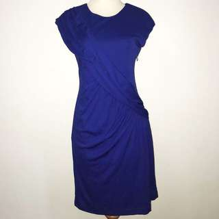 Royal Blue with Ruffles Dress (Plus Size)
