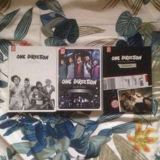"""ONE DIRECTION Album 1 """"Up All Night"""" Limited Yearbook Edition and Album 2 """"Take Me Home"""" Limited Yearbook Edition (+Up All Night: The Live Tour DVD) 