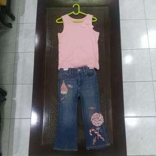 Set baju anak (Gap Jeans & Tank Top Kids)