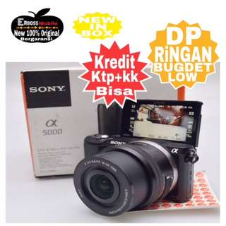 Sony Alpha A5000 KIT 16-50mm Resmi-cash/kredit ditoko ktp+kk bisa 081905288895