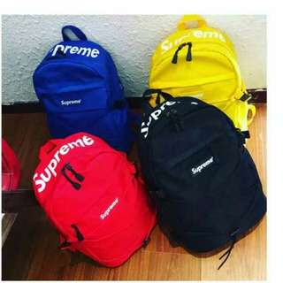In stock Supreme Backpack gym bag sch bag