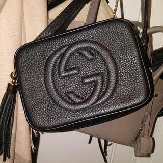 Gucci soho disco bag in black
