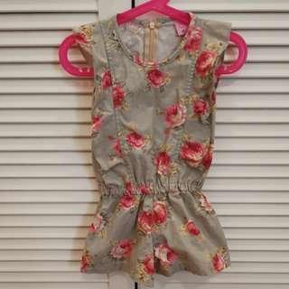 Floral Jumpsuit with zip