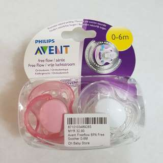 Avent FreeFlow Pacifier / Soother BPA Free 0-6m