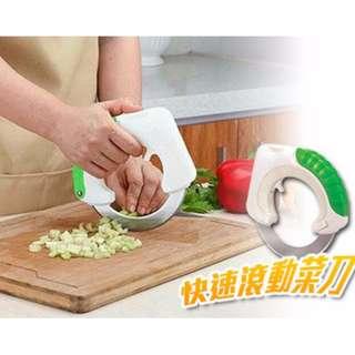 快速滾動菜刀 圓形菜刀  菜刀  水果刀  切肉刀