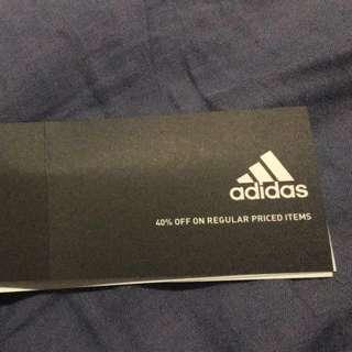 Adidas 40% off coupon