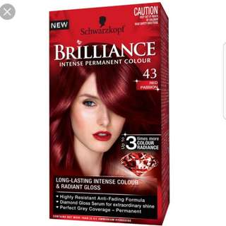 Schwarzkopf Germany Diamond Brilliance Passion Red Bright Permanent Hair Dye Colour