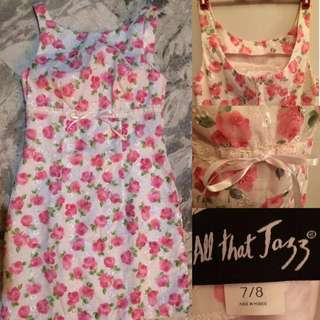 ALL THAT JAZZ PINK FLORAL DRESS