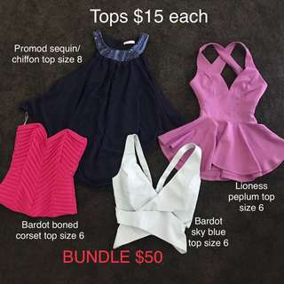 Tops size 6-8