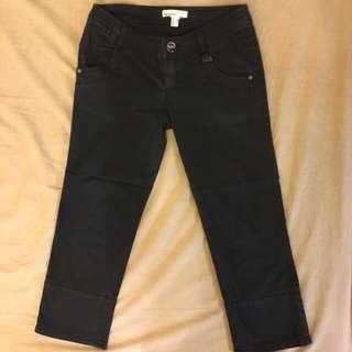 Mango 黑色七分褲(34) 黑褲