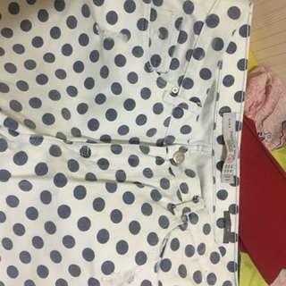 Zara Ripped Jeans Polkadot