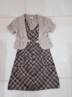 Casual Dress with Blazer