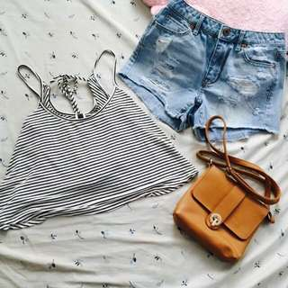 BUNDLE Sleeveless top and shorts