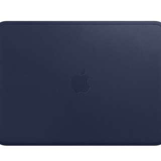 NEW! Leather Sleeve for 12-inch Macbook (midnight blue)