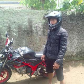 Helm klx hitam doff