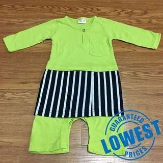 Romper Baju Melayu Bersampin Baby Cute