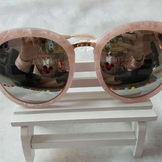 粉紅雲石蚊太陽眼鏡