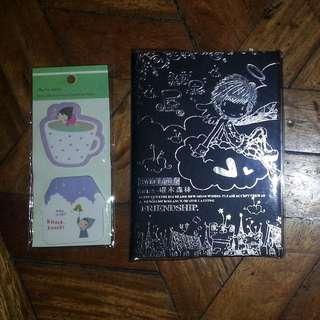 [BUNDLE] Black-paged Journal Notebook + Post It Sticker