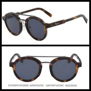 Salvatore Ferragemo vintage round sunglasses SF845S