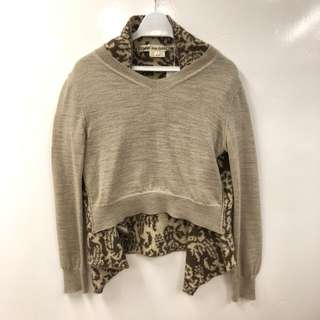 Comme des garçons light brown knitted top size S