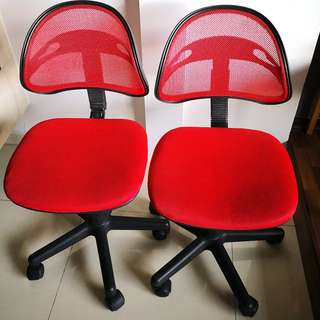 2 Office Chair Red @ only $15