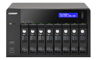QNAP TS869 Pro *8 Bay NAS w/ Dual Core, including 7 disks HDD 4TB / Used but but dents or scratches.