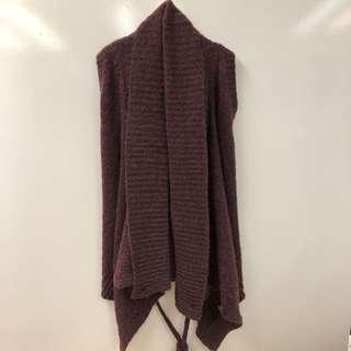 Ann Demeulemeester burgandy knitted vest cardigan size 34