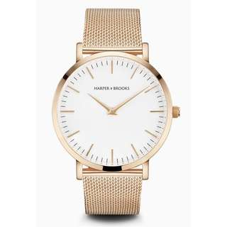 NEW Harper & Brooks STAL ROSE GOLD watch RRP$264