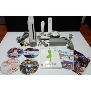 PRICE REDUCED! Wii set with Wii Fit board & many games