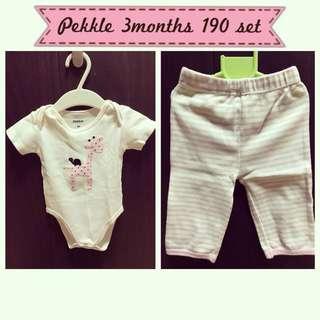 Pekkle onesie and leggings set