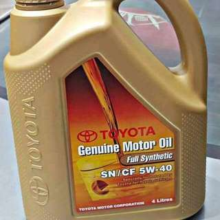 Engine Oil TOYOTA GENUINE MOTOR OIL FULL SYNTHETIC SN / CF 5W - 40