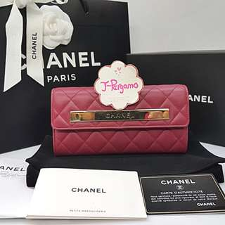Authentic Chanel Quilted Lambskin L-Flap Long Wallet GHW {{ Only For Sale }} ** No Trade ** {{ Fixed Price Non-Neg Please }} ** 定价 **