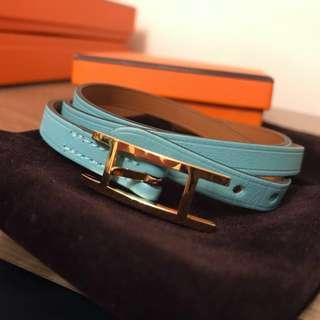Hermes Bracelet Blue atoll