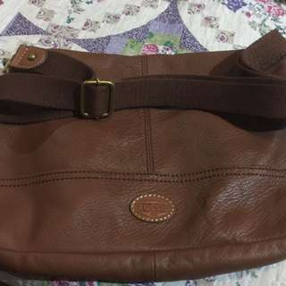 Fossil Leather Crossbody tote