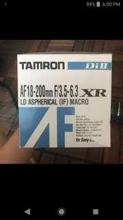 TAMRON LENS AF 18-200mm (Sony Compatible)