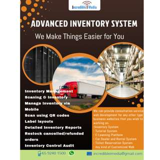 Inventory System Website Portal/ Advanced Scanning