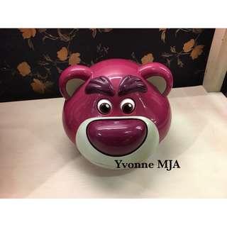 🚚 *Yvonne MJA香港代購*香港迪士尼Disney 樂園限定正品 玩具總動員最可愛反派(熊暴哥) 半自動糖果罐