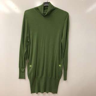 Paul Smith green tall neck knitted top size S