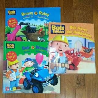 3 Bob the builders books