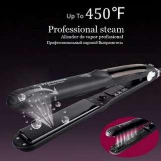 Professional Ceramic Vapour Steam Argan Oil Infusion Hair Straightener