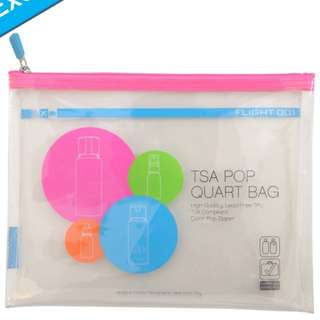 FLIGHT 001 TSA POP ZIPPER POUCH