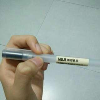 Black ink muji 0.5 pen case