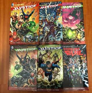 New 52 Justice League  & Aquaman Geoff Johns (Hardcover, except for Justice League Vol 5)