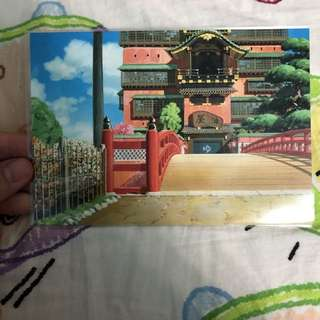 BN Official Studio Ghibli Spirited Away Art Postcard