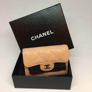 Chanel Ladies Patent Wallet (Baby Pink)