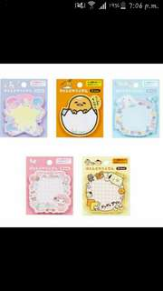 [Fast Deal Clearance] 50 Sanrio Post It (ORIGINAL FROM JAPAN)