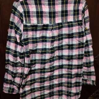 🚚 亮粉色格紋襯衫